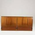 Paul mccobb calvin pair of twin headboards usa 1950s bleached mahogany and brass unmarked 36 x 39 12 x 2