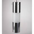 Paul mayan habitat cylindrical hanging pendant lamp acrylic and polished aluminum 22 x 5 12