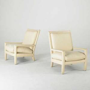 Milo baughman thayer coggin pair of fully upholstered armchairs usa 1970s 33 x 24 12 x 26