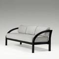 Paul frankl johnson furniture co threeseat sofa usa 1930s lacquered wood wool unmarked 30 12 x 70 14 x 32