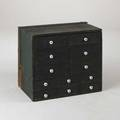 Apothecary cabinet twelve drawers with porcelain knobs 19th c originally builtin a wall 26 x 30 12 x 19 12