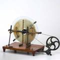 Toeplerholtz electrostatic machine german late 19th early 20th c marked made in germany 5074 overall 14 x 21 x 13 12