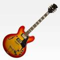 El degas electric guitar archtop sunburst design after a gibson guitar 20th c 36 x 14 x 2