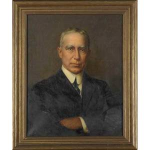 Jefferson david chalfant american 18561931 oil on canvas portrait george f pfahler md framed signed 20 x 16