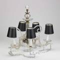 Crystal chandelier fivearm early 20th c in asfound condition unmarked 17 x 18