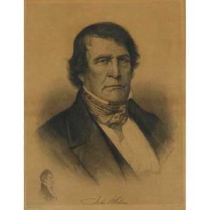 Albert rosenthal engraving of john gibson ca 1900 signed framed 27 12 x 22