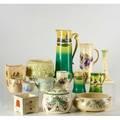 Haynes roseville two cider sets six planters creamer tea pot cup and candlestick haynes cider sets marked tallest pitcher 14
