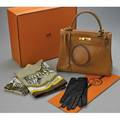 Taupe kelly bag scarves and gloves hermes paris taupe calf leather kelly bag ca 1965 gilt metal hardware and padlock keyfob detachable shoulder strap marked purchase receipt and origina