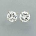 Diamond stud earrings circular brilliant cut diamonds approx 110 cts tw in fourprong setting 14k wg diamonds 5 mm 09 dwt 13 gs