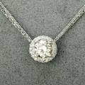 Diamond solitaire white gold pendant brilliant cut diamond approx 142 cts in 14k wg halo setting with 20 ct tw diamond accents along with adjustable double chain 20 36 dwt gw 56 gs gw