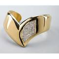 Elsa peretti for tiffany  co 18k cuff 1977 vshaped open cuff with aftermarket pave diamond accents approx 125 cts tw 259 dwt 403 gs