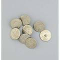 Set of eight silver archery buttons etched centre bowmen engraved quiver arrows and bow over target birmingham marks 1813 wardell and kempson indistinct age 4005 dwt 623 gs 1