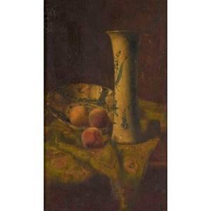John henry dolph american 18351903 oil on panel still life of fruit framed signed 14 x 10