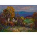 Tod lindenmuth american 18851976 oil on board autumn in new england framed signed 18 x 24