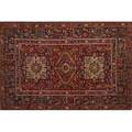 Persian oriental rug three central medallions on red ground early 20th c 79 12 x 54
