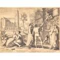 Jan pietersz saenredam 15651607 copper engraving tanzende und feiernde junge paare 1596 framed 11 78 x 15 34