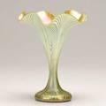 Quezal floriform vase 20th c marked quezal r 425 9