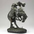 After frederic remington american 18611909 rattlesnake bronze signed and impressed 18100 21 x 15 12 x 8