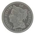 1884 3c pcgs pr 66 coppernickel
