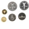 1989 congressional six coin set 3 proof struck and 3 uncirculated 500 gold 14 ot 100 silver 76 ot 50 coppernickel