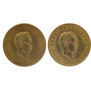 1916 cuban 4 peso two gold coins 66872 g each 900 fine
