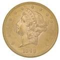1898s 2000 gold coin au 58