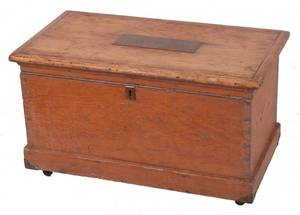 Late 19th Century Pine Chest Toolbox