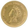 1854 100 gold coin type ii anacs au 5050