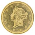 1851 100 gold coin type 1 anacs ms 6060