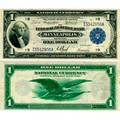 1918 federal reserve bank of minneapolis 100 national currency note fr 734 kl87 exceedingly crisp clean example au 50