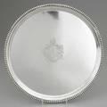 Georgian silver salver john and henry lias london 1823 reed edge central armorial crest below boars head 54 ot 15