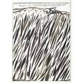 Raymond pettibon american b 1957 untitled a real man didnt go into that profession to see how little he could swallow 1987 ink on paper framed signed and dated 24 x 18 sheet proven