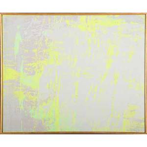 Walter darby bannard american b 1934 grey veilgreen 1970 alkyd resin on canvas framed signed dated and titled 18 18 x 22 18 provenance private collection ohio