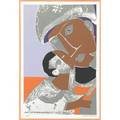 Romare howard bearden american 19111988 mother and child 1972 screenprint in colors framed signed and numbered 25200 24 x 16 image 25 12 x 17 38 sight literature gelburdrosen