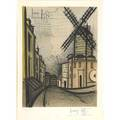 Bernard buffet french 18281999 le moulin de la galette 1965 lithograph in colors framed signed and numbered 295300 30 12 x 22 12 sight publisher mourlot paris literature sorlier