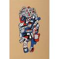 Jean dubuffet french 19091985 celebrator 1973 screenprint in colors initialed dated and numbered pp 19 34 x 13 12 image 29 78 x 21 78 publisher pace editions new york proven