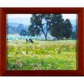 Harry leithross american 18861973 untitled four cows oil on board framed signed 8 12 x 10 provenance the artist private collection pennsylvania by descent to present owner