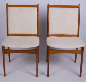 Jensen Danish Teak Side Chairs Pair