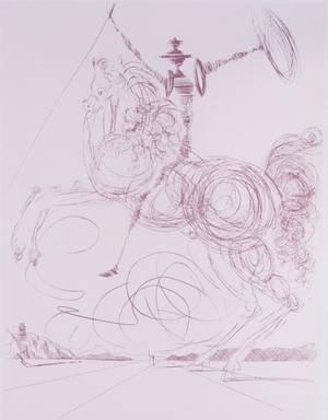 Salvador Dali Lithograph Don Quixote Signed