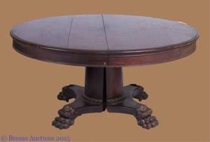Walnut Pedestal Dining Table w Six 6 Leaves