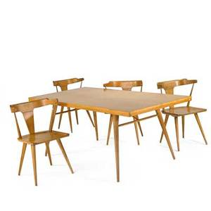 Paul mccobbwinchendonmaple dining table and four chairs usa 1950stable 29 x 72 x 36 chair 30 12 x 21 x 20