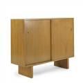 Th robsjohn gibbingswiddicombtwodoor bleached mahogany cabinetusa 1950swiddicomb modern decal43 x 51 12 x 18 12