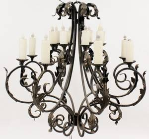 Iron 16 Light Simpson Chandelier