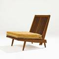 George nakashimawalnut cushion chair new hope pa 1963unmarked31 x 24 x 34 provenance accompanied by letter of authentication from nakashima studios