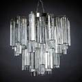 Veninifourtier chandelier with solid glass drops italy 1950sunmarkedoverall 14 x 14 dia