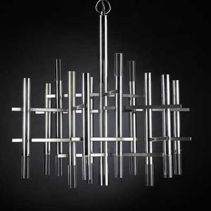 Gaetano sciolarichromed brass and lucite chandelier italy 1970sunmarked23 x 26 dia