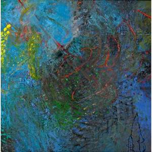 Elizabeth tracy 20th coil on canvaseleusis series push 1992 framed60 x 60