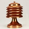 Art decocopper table lamp ca1930socket marked canada10 12 x 7 dia