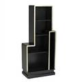 Style of paul franklskyscraperstyle bookcase usa ca 1930silvered and lacquered woodunmarked54 x 24 x 13