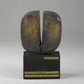 Nello binibronze sculpture on ebonized wood base florence 1991signed and dated10 34 x 6 34 x 3 12